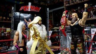 Braun Strowman vs Kevin-lina   WDW Universal Championship Match   WWE Mattel Wrestling Figure Fun