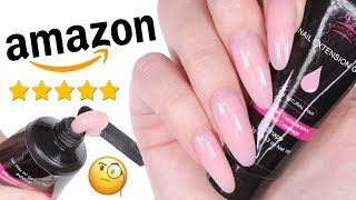 DIY TESTING THE #1 POLYGEL NAIL KIT ON AMAZON PRIME