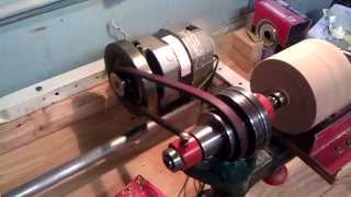 Vintage Bench Lathe Running On 1 Hp Dc Motor