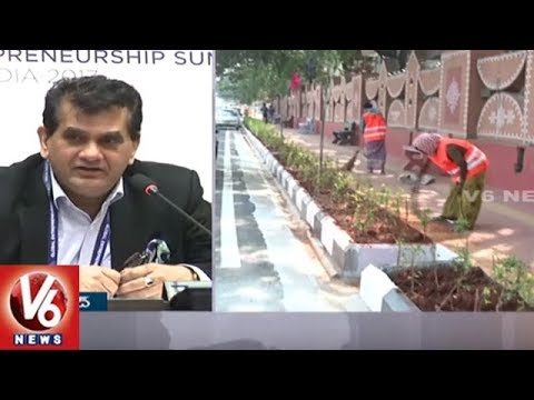 NITI Aayog CEO Amitabh Kant : Hyderabad City Is Best For Global Entrepreneurship Summit | V6 News