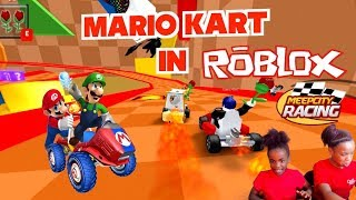 MARIO KART IN ROBLOX! (MEEPCITY RACING AND HOUSE TOUR)
