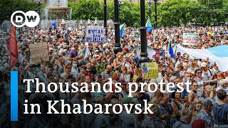 Anti-Putin protests swell in Russia's east over governor's arrest | DW News