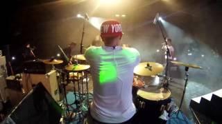 hijau daun live concert papua - gerimis mengundang (cover) -  drum cam rio star