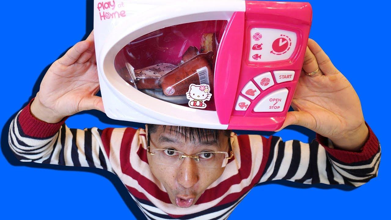 TRÒ CHƠI LÒ VI SÓNG THẦN KỲ BÉ BẮP | 100% ĐỒ CHƠI PIZZA and Microwave Toys