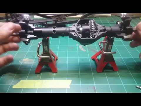 RC - How to Narrow Axial Wraith Axle (ar60)