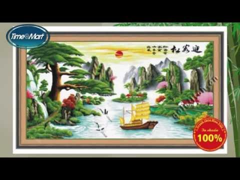 Tranh Thêu Chữ Thập Phong Cảnh - Shop tranh thêu chữ thập Timemart