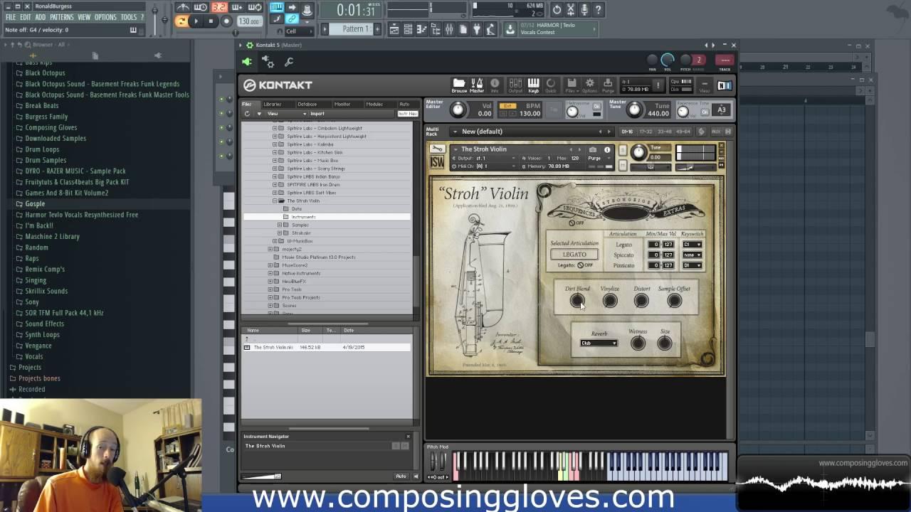 Free Kontakt Library - The Stroh Violin - Impact Sound Works