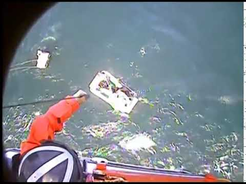 Coast Guard Helicopter Rescues Four From Life Raft Near Big Sur, Calif.