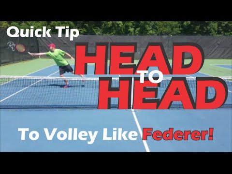 ONLINE TENNIS TIPS | Develop a volley like Federer