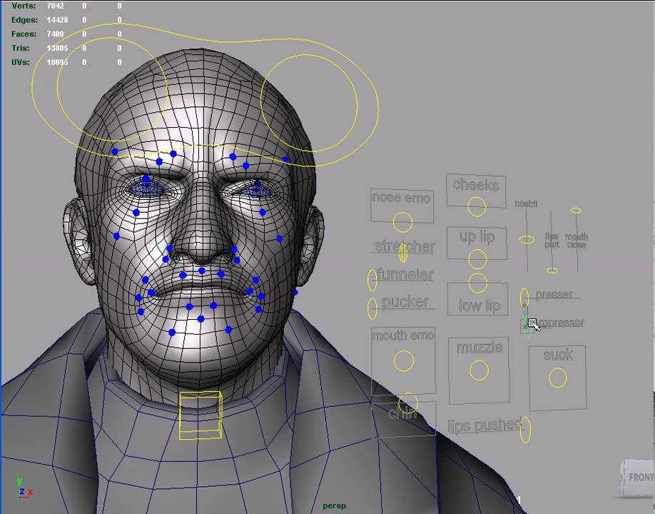 Blender Facial Rigging 11