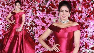Sridevi Blown The RED Carepet With Her Beautful Rose Attire for Lux Golden Rose Awards 2017