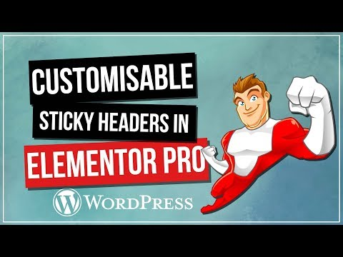 Sticky Headers with Elementor Pro & WordPress - YouTube