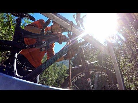 WE'RE GETTING IN THAT?   Mountain Biking Idaho Peak With Wandering Wheels