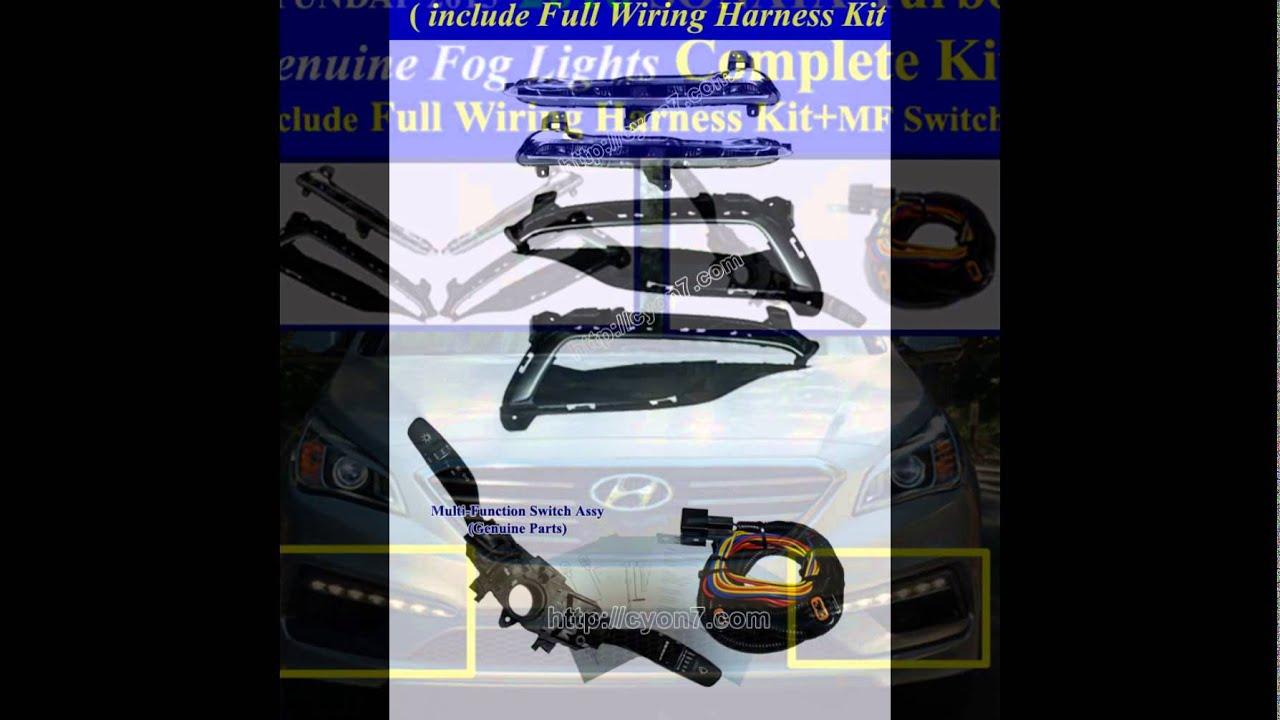 hight resolution of 2015 2017 hyundai sonata turbo led fog light lamp complete kit wiring harness mf switch assy