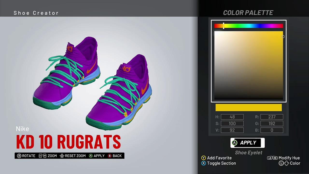 NBA 2K19 Shoe Creator - Nike KD 10