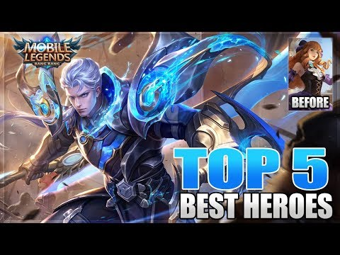 2019 TOP 5 BEST FIGHTER HEROES IN MOBILE LEGENDS BEFORE GUINEVERE