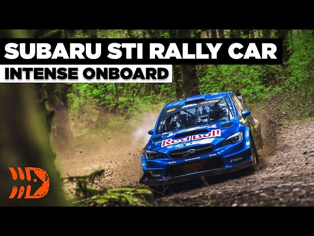 Intense Rally Onboard   Subaru Motorsports USA   Olympus Rally 2021