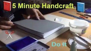 5 Minute Handcraft / Handmade notebook
