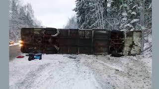 Смотреть видео Украинцы пострадали при ДТП с автобусом под Воронежем онлайн