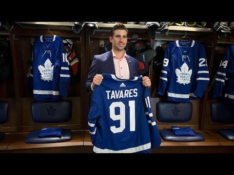 Maple Leafs introduce John Tavares