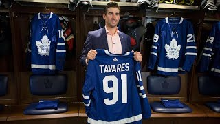 Maple Leafs introduce John Tavares