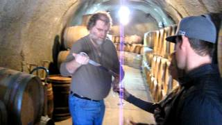 Courtwood WIne Tour at Twisted Oak Winery's Cave -The wine thief