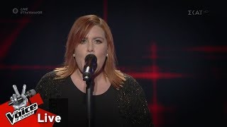 Anna Capone Papas - Je suis malade | 2o Live | The Voice of Greece