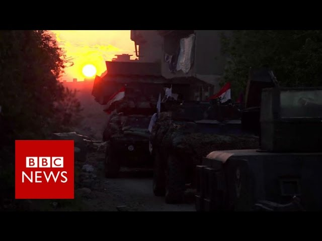 spending-a-night-on-mosul-s-frontline-bbc-news