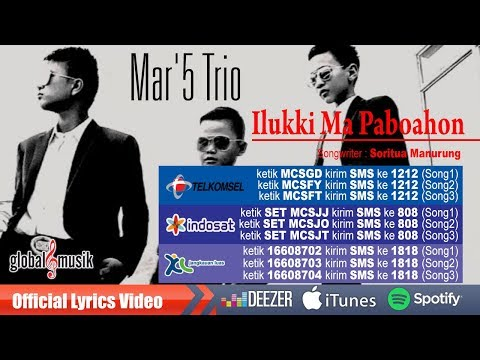 Mac'5 Trio - Ilukki Ma Paboahon(Official Lyrics Video)#music