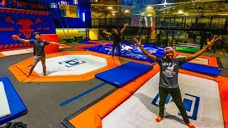 OVERNIGHT AT SUPER TRAMPOLINE PARK! (DOING REALLY DUMB THINGS)