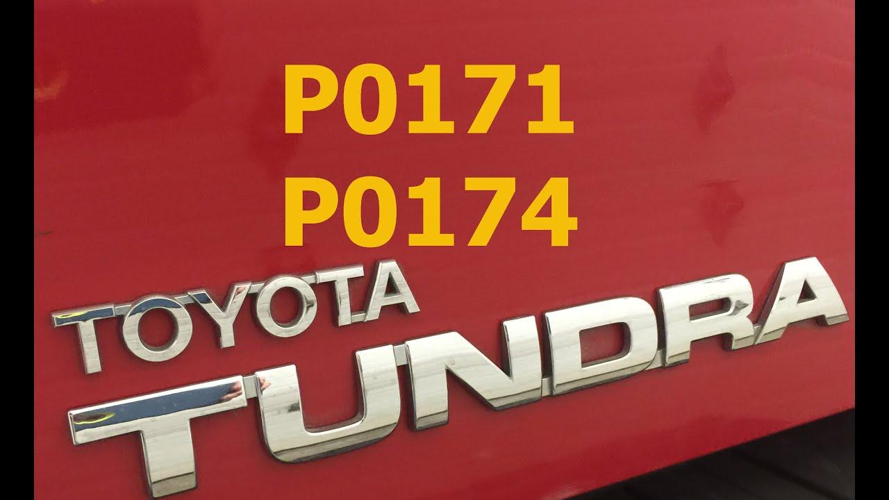Toyota Tundra P0171 P0174 Lean Codes
