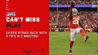 Chiefs Respond w/ 2 TDs in Under 2 Minutes!