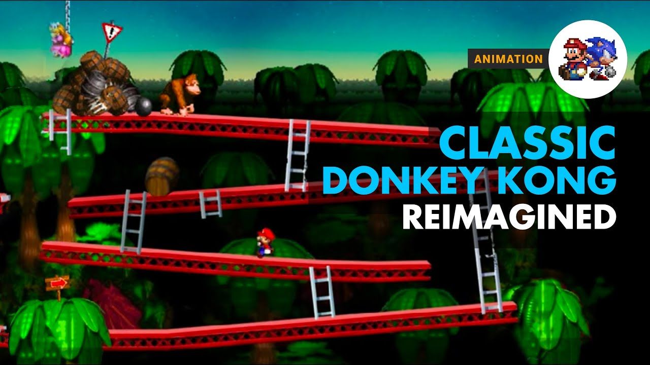 Classic Donkey Kong Reimagined   YouTube