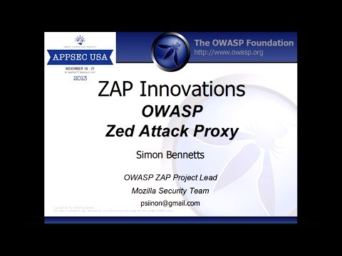 OWASP Zed Attack Proxy - Simon Bennetts