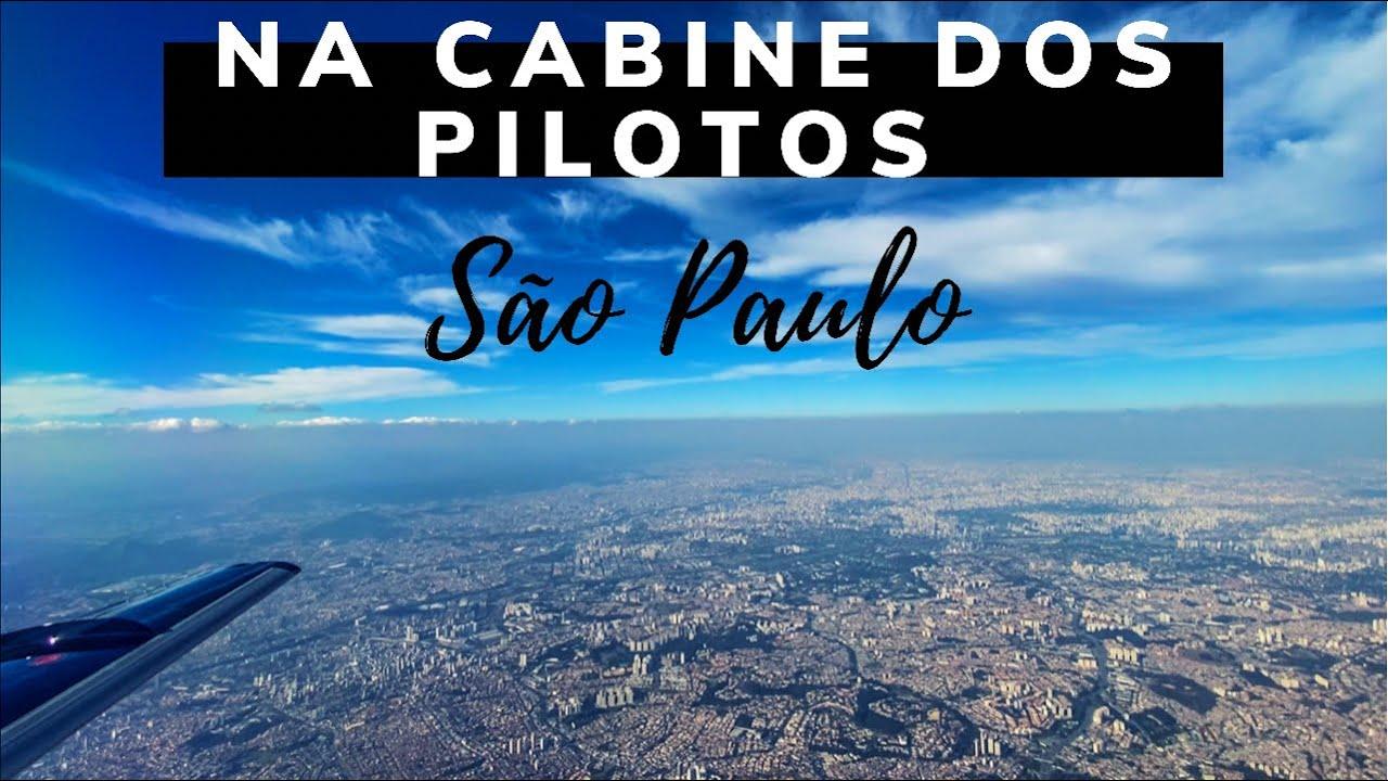 POUSANDO EM SÃO PAULO - CONGONHAS - VISÃO LATERAL DA CABINE DOS PILOTOS - ÁUDIO ATC
