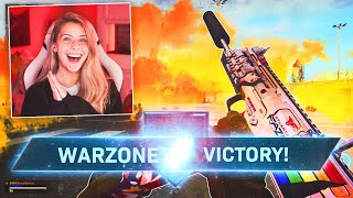 FIRST WARZONE SOLO WIN!!! 🎃 WARZONE SOLOS (MP7 / R700)