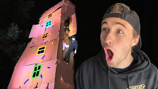 Last To Leave 7 STORY Box Fort Wins!