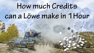 How much Credits can a Löwe make in 1 Hour?