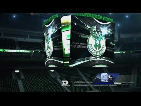 Bucks unveil new arena's giant video board