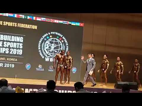 Mr World Bodybuilding Championship 2019 .South Korea .nov 5to11.