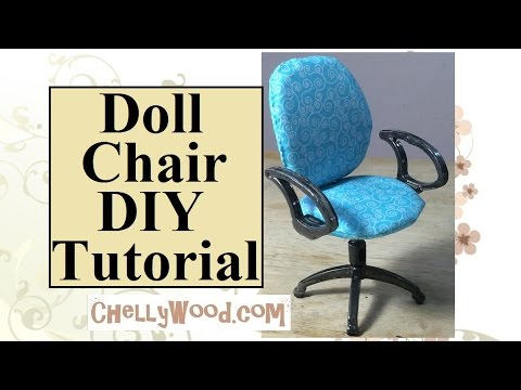 Doll Chair DIY Tutorial: Remodel a Plastic Office Chair