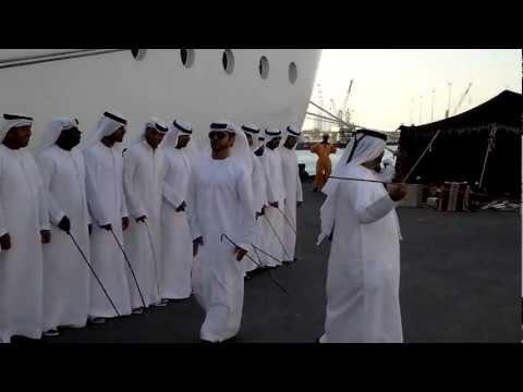 Emirati Folklore Dance in Abu Dhabi, UAE. 07.10.2012
