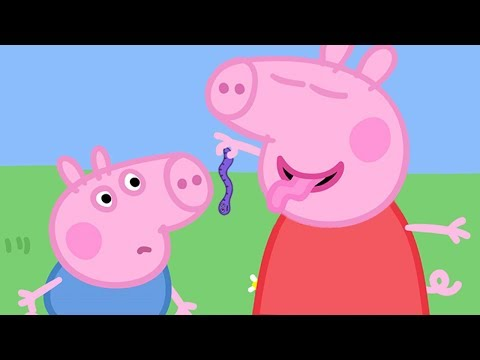 Peppa Pig English Episodes | Peppa Pig and the Wriggly Worm! | 1 HOUR | Cartoons for Children #154