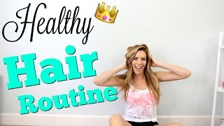 Healthy Hair Routine | Shower + 3 Easy Hairstyles!