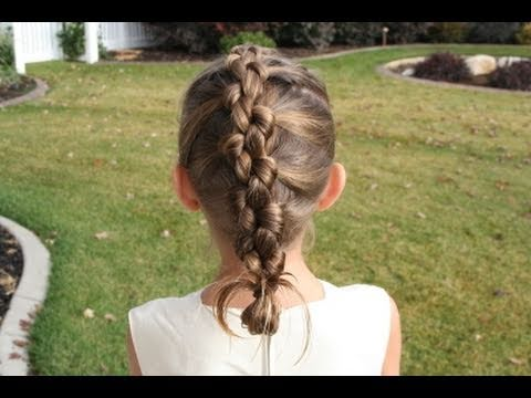 French Knotted Braid Cute Girls Hairstyles Youtube