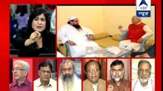 abp news debate what is wrong in meeting with hafiz saeed