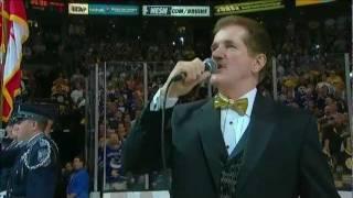 Rene Rancourt performs U.S. Anthem prior to Game 4 6/8/11