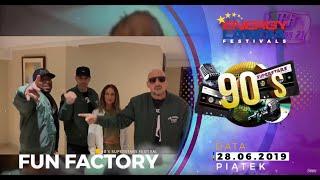 90'S SUPERSTARS FESTIVAL - ENERGYLANDIA - 28.06.2019 - zaproszenie FUN FACTORY