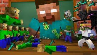 Monster School : TINY BALDI APOCALYPSE CHALLENGE - Minecraft Animation