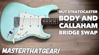 Video Surf Green Fender Stratocaster MJT Body Replacement - Old vs New Body Comparison download MP3, 3GP, MP4, WEBM, AVI, FLV Juni 2018